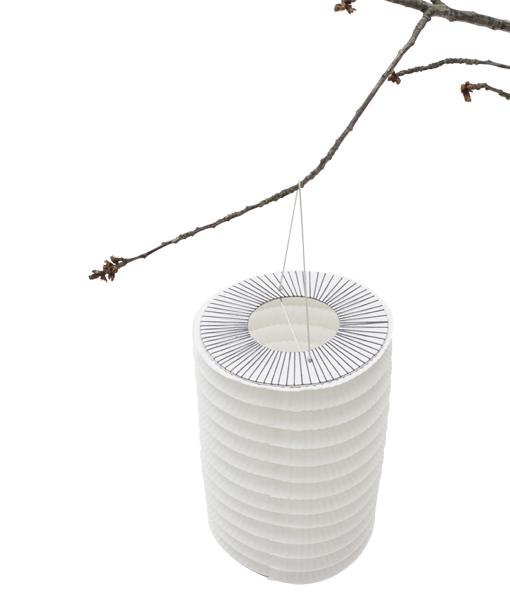 pigm e e shop veilleuse lampion en papier blanc et pompon. Black Bedroom Furniture Sets. Home Design Ideas